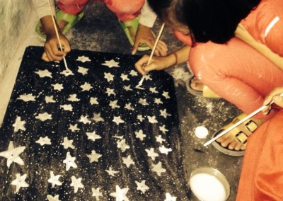 Painting stars for a project
