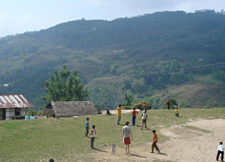 Play cricket with the Lepcha community on your Gap Year with friends