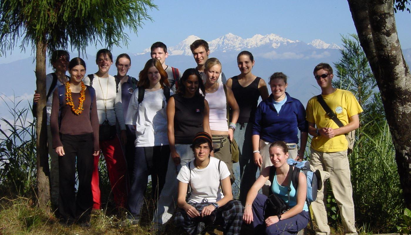 Nepal Gap Year program 2015 group