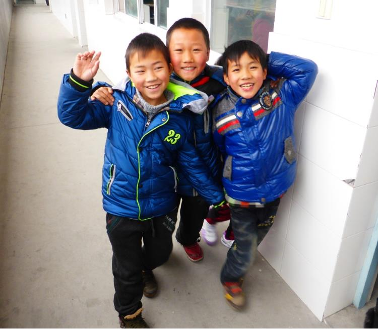 Three boys at Hope School - teaching gap year in china