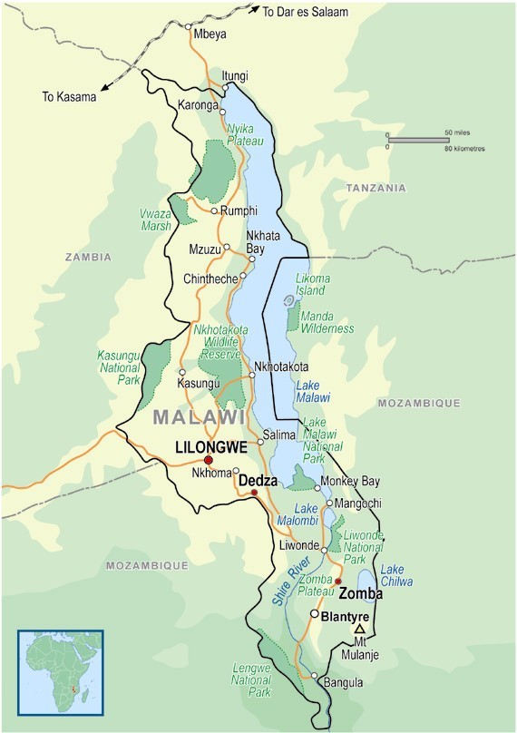Malawi On Africa Map.Malawi Programs Africa Asia Venture Av