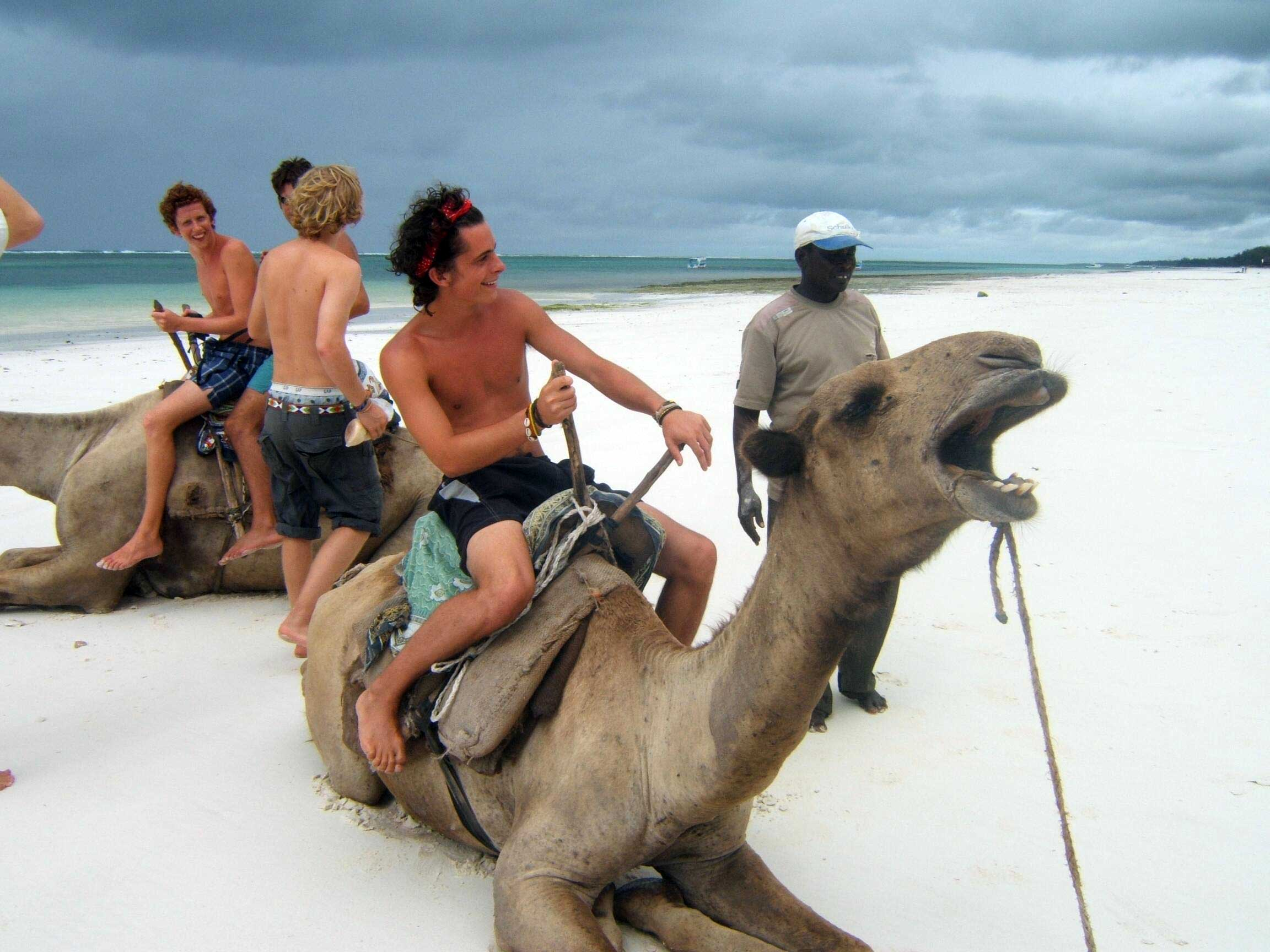 Camel riding during your summer in Kenya