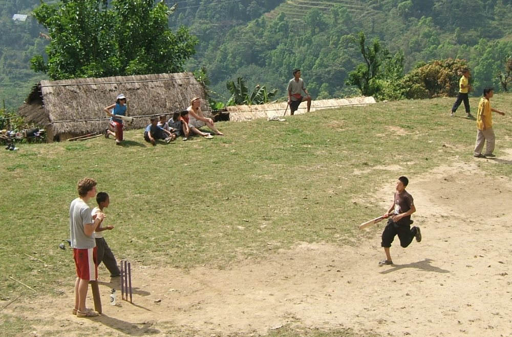 Get involved - how to get off the beaten track on your gap year - teach cricket in Darjeeling