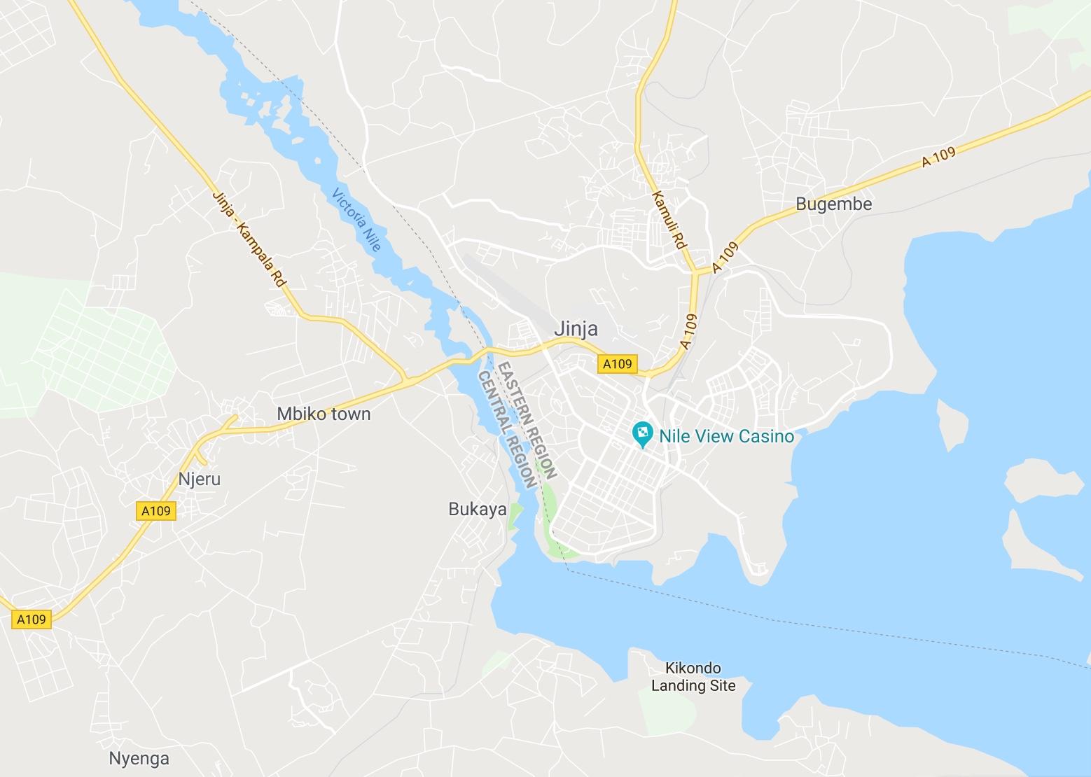 Jinja, Uganda Map