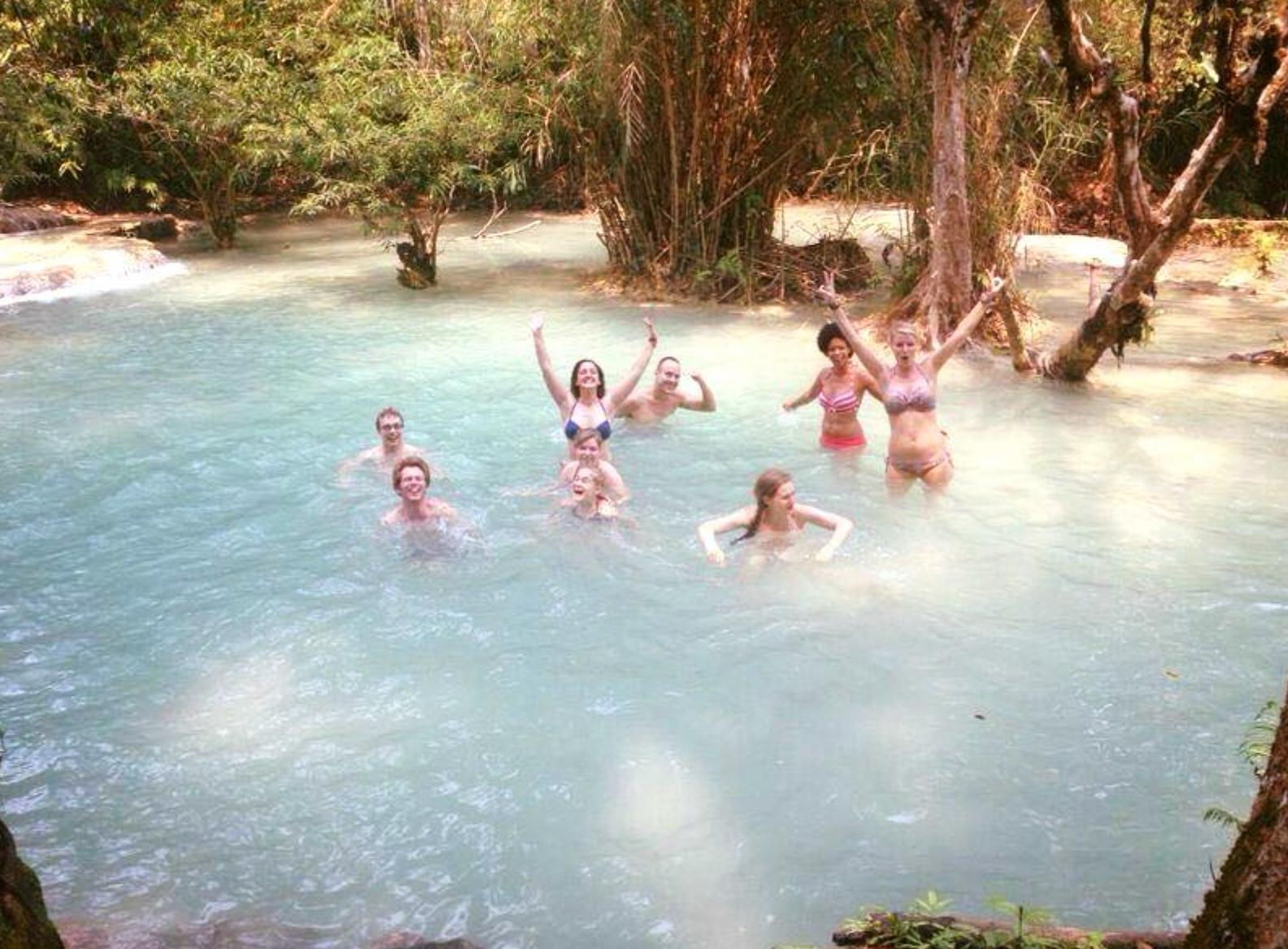 Thailand fun in a natural lake