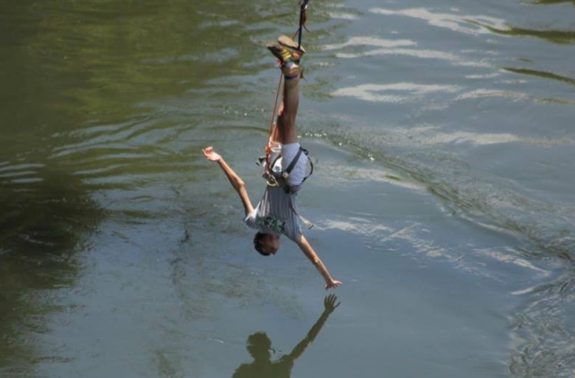 Go Bungee jumping on a gap year in Africa