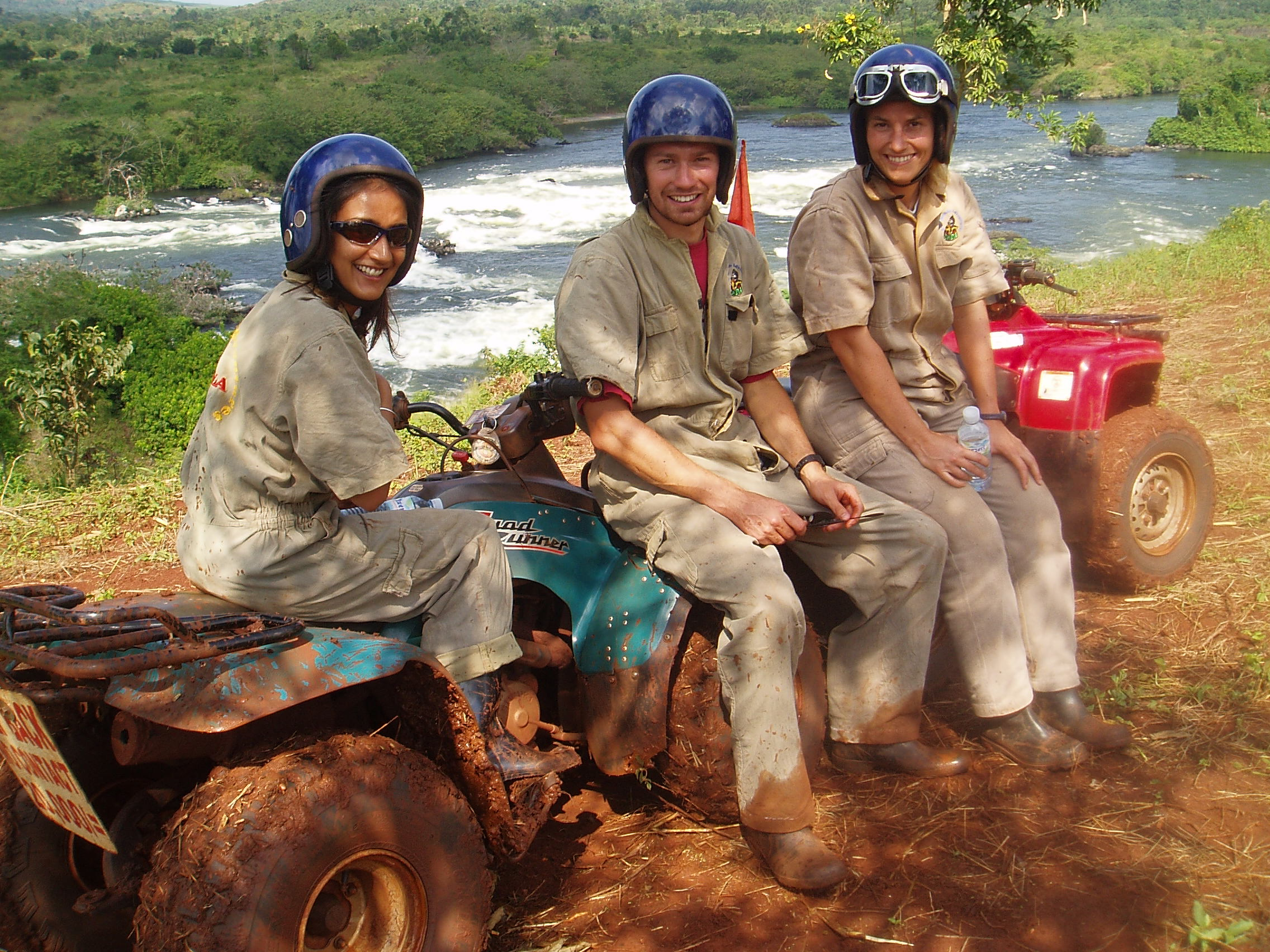 Quad biking on a gap year in Africa
