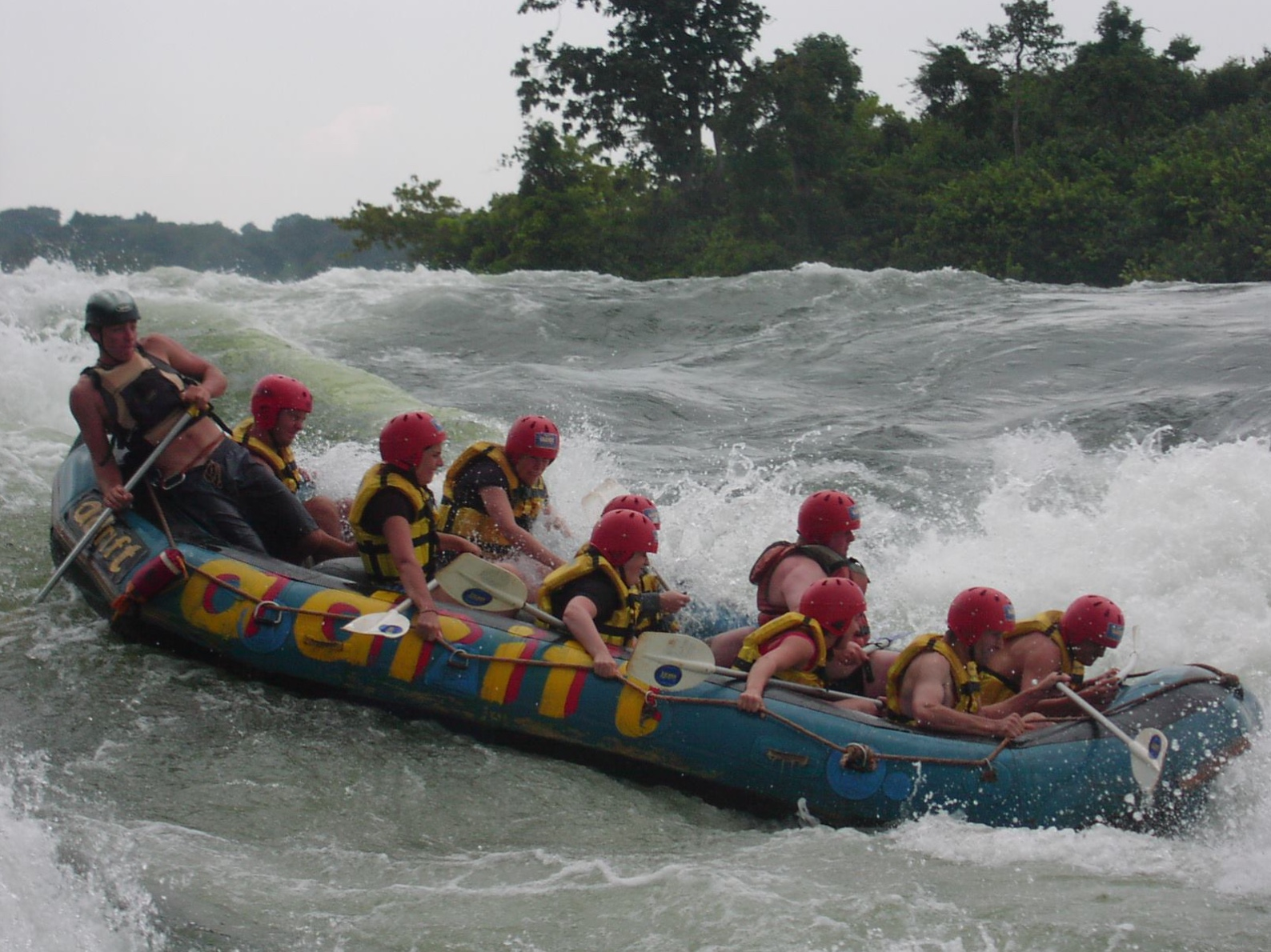 white water rafting on a gap year in Africa