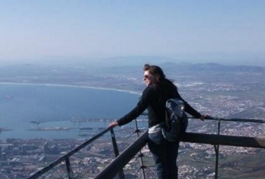 View from Table Mountain in South Africa